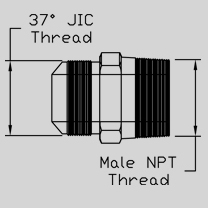 male jic to npt male adapter hose fitting spec 01