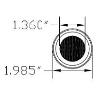 1.5 in sanitary fitting profile a